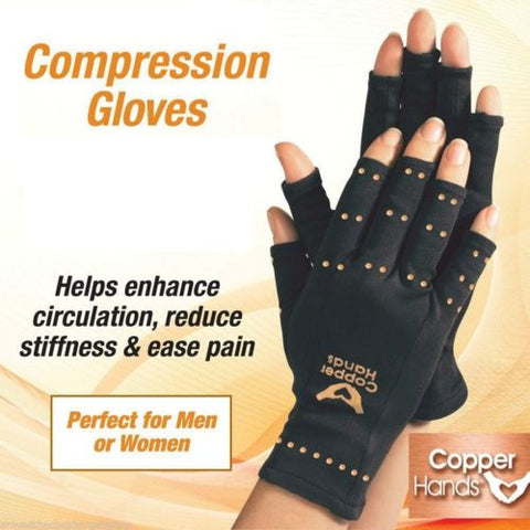 Anti Arthritis Therapy Compression Copper Gloves Ache Pain Relief - UpTechMart