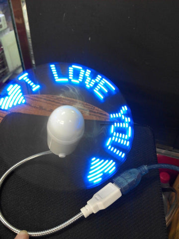 COOL GADGET! Blue Durable Adjustable USB Gadget Mini Flexible LED Light USB Fan Time Clock - UpTechMart