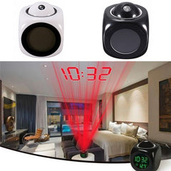 SUPER STUFF! Digital LCD Display Voice Talking Alarm Clock Weather Station LED Projection with Temperature