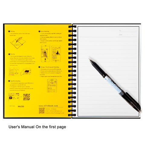 UNIQUE! Erasable Reusable Paper Notebook, Smart Cloud Storage Flash Storage, App Connection - UpTechMart