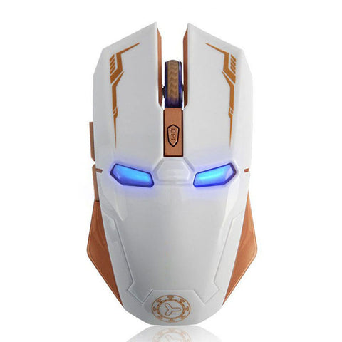 Iron Man Rechargeable Wireless Gaming Mouse 2400DPI For Pc Laptop - UpTechMart