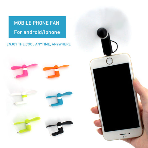 BEST BUY! Mini 2 in 1 Portable Micro USB Fan For iPhone 5 6 7 & Samsung HTC Sony Android - UpTechMart