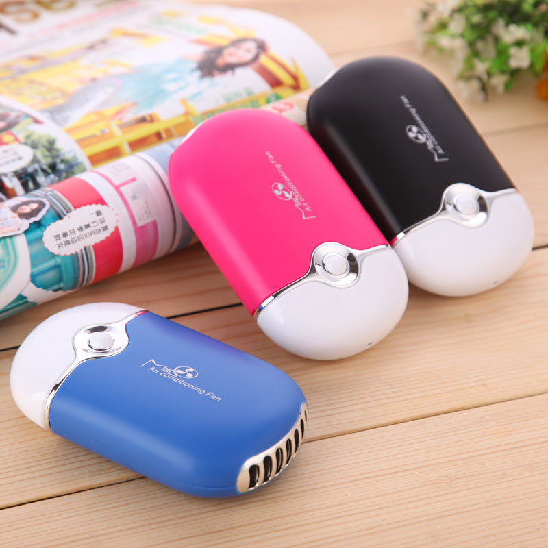 Mini Portable Hand Held Desk Air Conditioner Humidifier, Cooling Fan Home,  ...