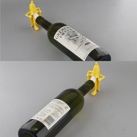 FUN GIFT! Mr. Banana Soda Wine Bottle Stopper Bar Tool Wine Beer Bottle Cork Stopper FUNNY! Gift - UpTechMart