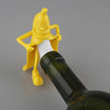 Image of FUN GIFT! Mr. Banana Soda Wine Bottle Stopper Bar Tool Wine Beer Bottle Cork Stopper FUNNY! Gift - UpTechMart