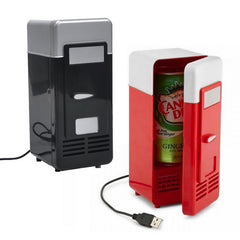 POPULAR! Mini USB Fridge Cooler Beverage Cans Cooler/Warmer Refrigerator for Laptop/PC - UpTechMart