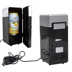 POPULAR! Mini USB Fridge Cooler Beverage Cans Cooler/Warmer Refrigerator for Laptop/PC