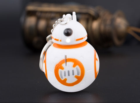 NEW! Star Wars The Force Awakens BB-8 Droid Robot, Darth Vader, Yoda LED Flashlight Keychain - UpTechMart