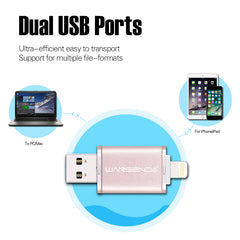 BEST BUY! DUAL USB iPhone & Android Flash Drive High Speed iPhone 7/7plus/6/6s Plus/5s/Ipad USB 2.0 64G, 32G, 16G