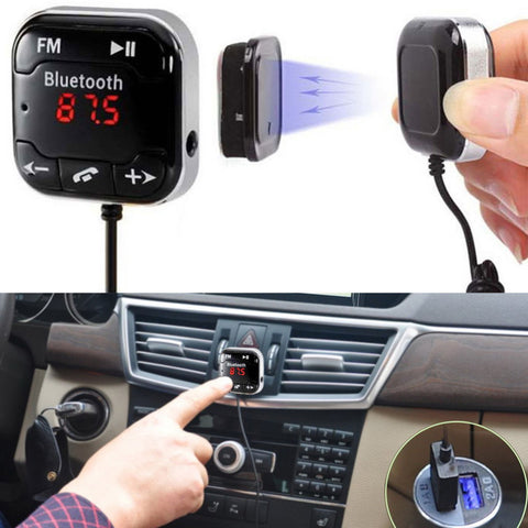 Wireless Bluetooth Car Kit FM Transmitter Modulator MP3 Player Automobile 3.5mm Audio AUX TF Card Play Dual Car-charger - UpTechMart