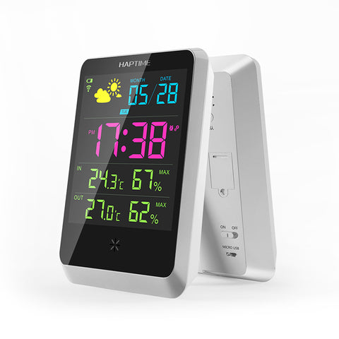 Wireless Weather Station! Digital Weather Forecast Meter Outdoor Thermometer Hygrometer Snooze Clock - UpTechMart