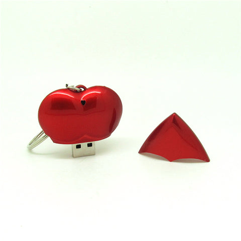 GREAT GIFT! Red Heart USB Flash Drive Pen Drive With Keychain Memory Stick - UpTechMart