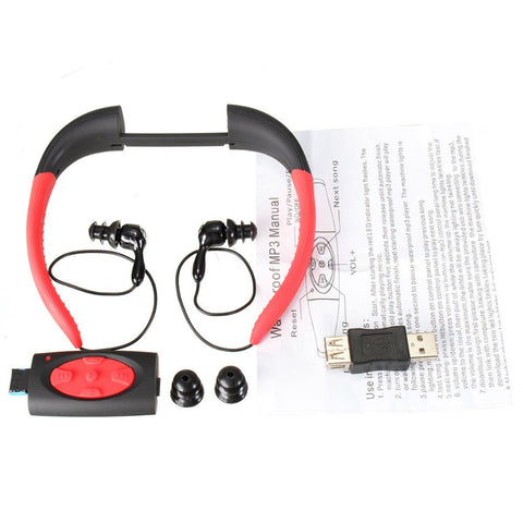 COOL! IPX8 Waterproof 8GB Underwater Sport MP3 Player Stereo Audio Headset with FM - UpTechMart