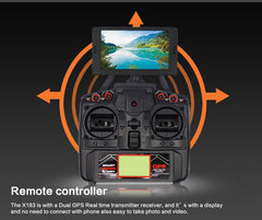 NEW ARRIVAL! Global Drone X183 5.8GHz 6-Axis Gyro WiFi FPV 1080P Camera Dual-GPS Quadcopter