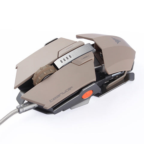 TEAMWOLF! Laser Changeable Gaming Mouse 4000dpi Backlight Metal USB 7 Buttons RGB LED - UpTechMart
