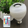 Image of TRENDING! LED Audio Speaker 12W Wireless Bluetooth E27 Colorful Music Playing With 24 Keys IR Remote Control - UpTechMart