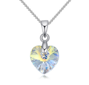 Womens crystal heart pendant 6 colors dapperandpop womens crystal heart pendant 6 colors aloadofball Images