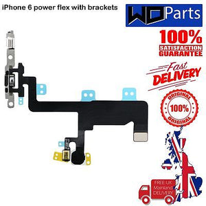 Replacement Power Flex Cable With Bracket, Mic & Flash For iPhone 6 4.7""