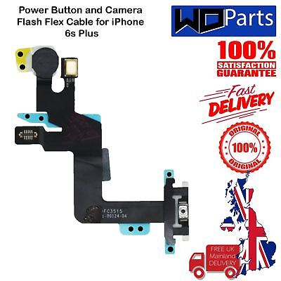 NEW Power Button Flex Cable with Bracket & Flash Replacement for iPhone 6S Plus