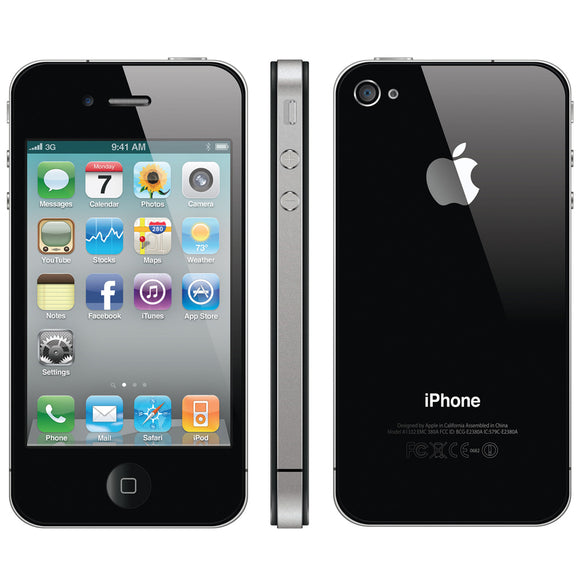 Apple iPhone 4 Black 32GB O2/Tesco/GiffGaff GRADE C Smartphone