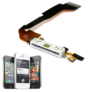 Charging Port Dock Connector Flex Cable With Mic For iPhone 4S