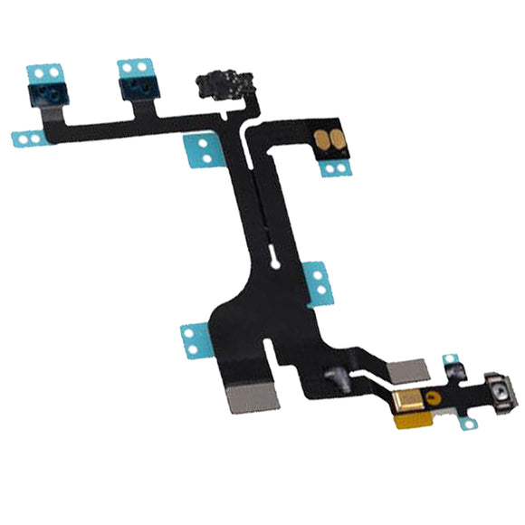 Iphone 5C Power On Off Volume Lock Switch + Mute Button Flex Cable Ribbon