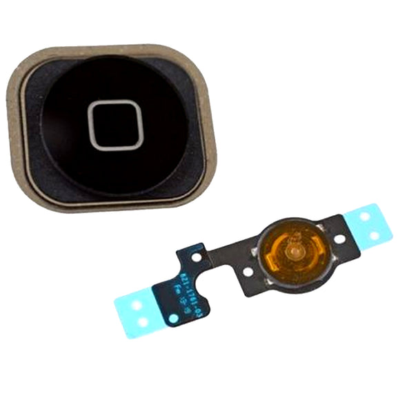 Home Button Key With Flex Cable Assembly Repair For iPhone 5c Black Replacement