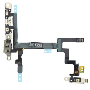 iPhone 5S Power Flex Cable - Mute Switch - Volume Buttons With Brackets