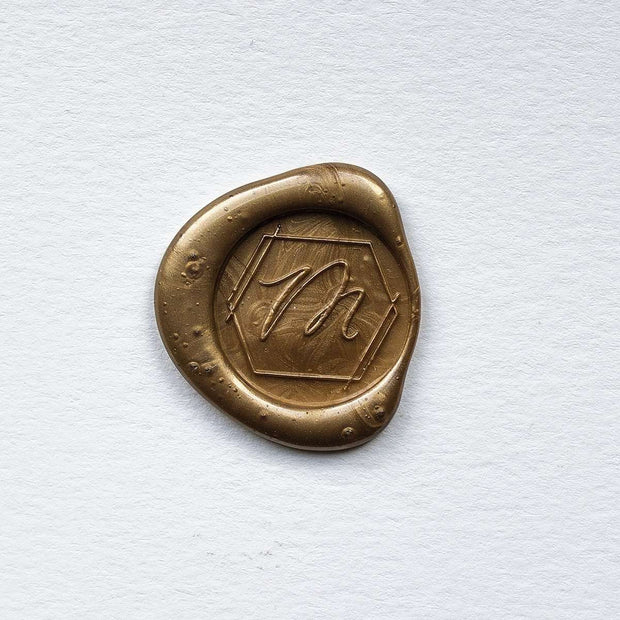 Geometric Single Initial Wax Stamp