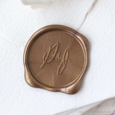 Casual Calligraphy Monogram Wax Stamp