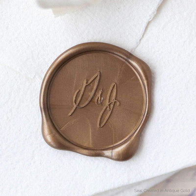 Casual Calligraphy Monogram Wax Seals