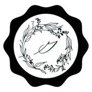Garden Wreath Single Initial Wax Seals