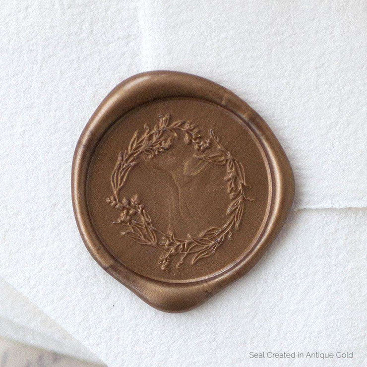 Garden Wreath Wax Stamp