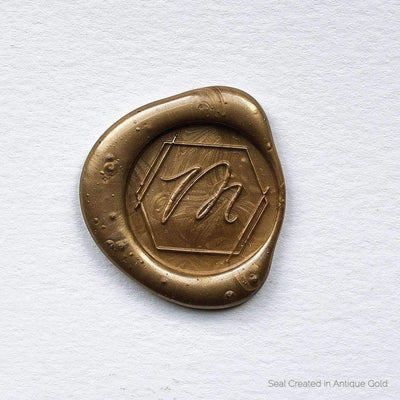 Geometric Single Initial Wax Seals