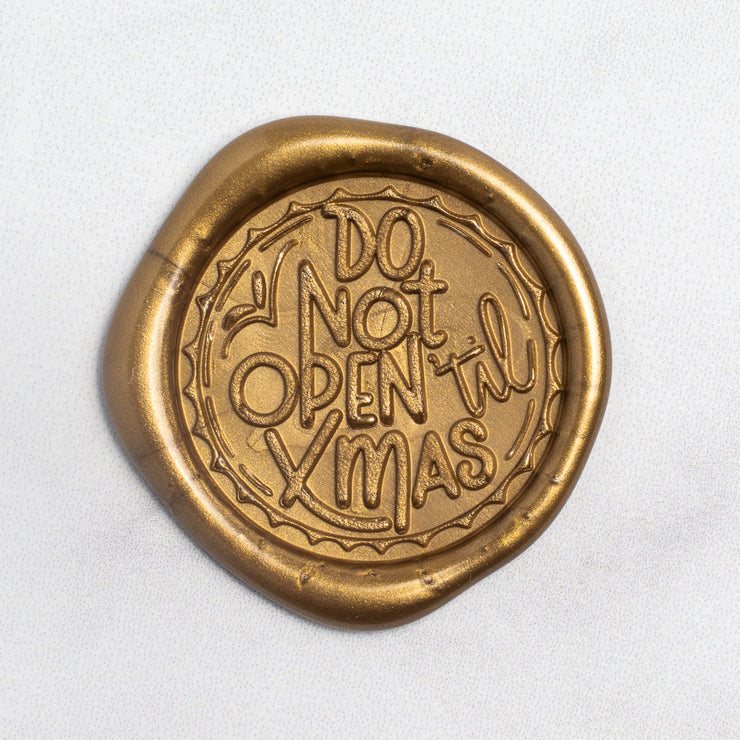 Do Not Open 'Til Xmas Wax Stamp