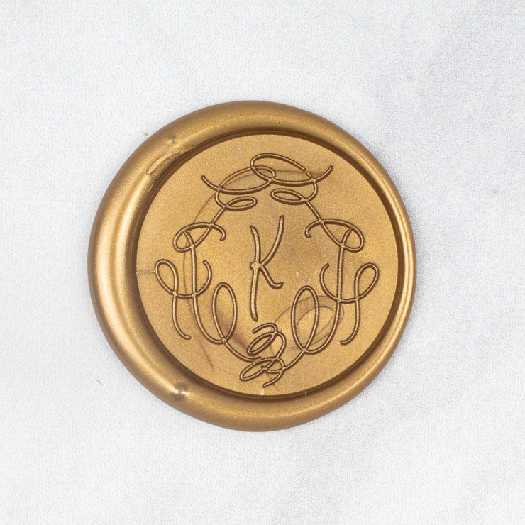 Whimsical Single Initial Wax Stamp