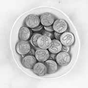 Antique Silver Sealing Wax Beads - 25 Pack