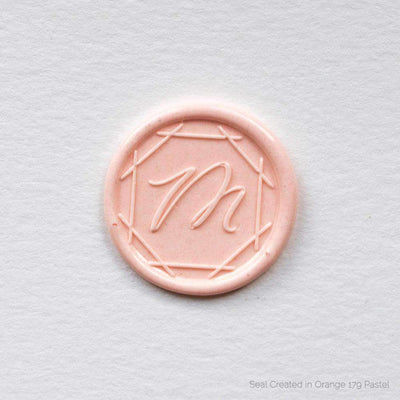 Latticed Single Initial Wax Seals