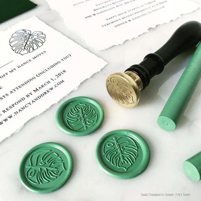 Monstera Love Wax Stamp