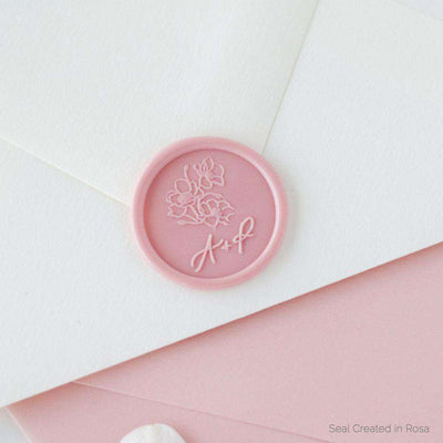 Poppy Monogram Wax Stamp