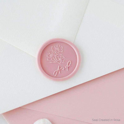 Poppy Script Monogram Wax Seals