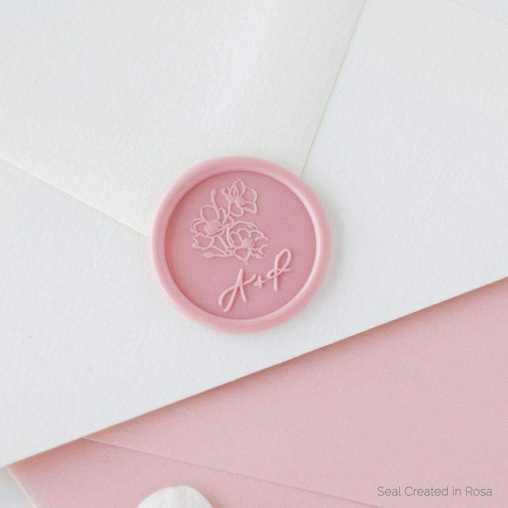 Poppy Monogram Wax Seals