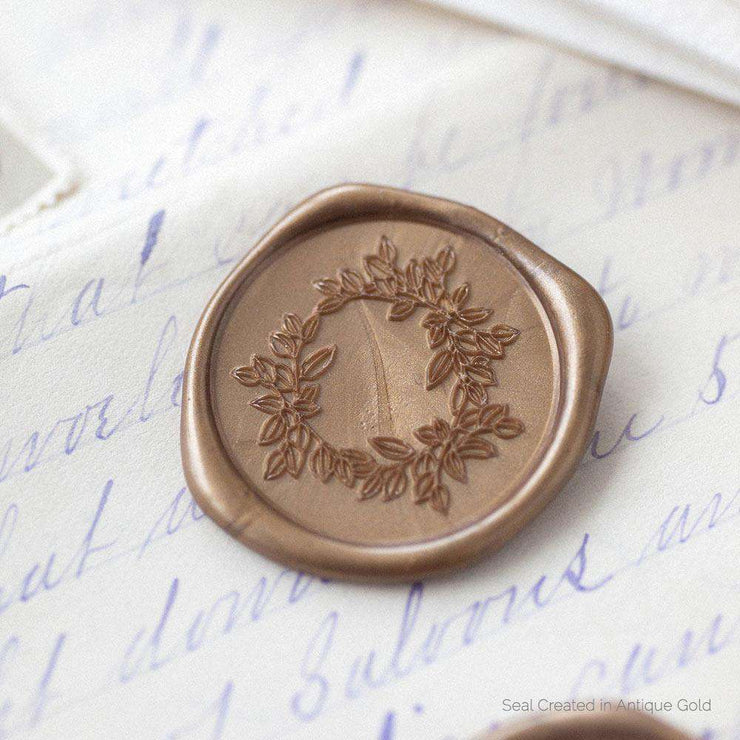 Salal Wreath Wax Stamp
