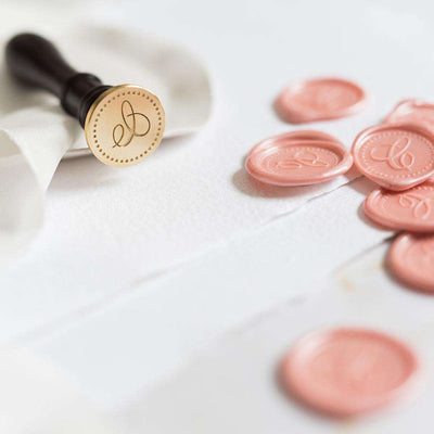 Single Initial Wax Seal