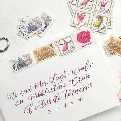 Blush Vintage Stamp Collection