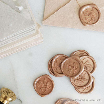 Wild Rose Wax Stamp