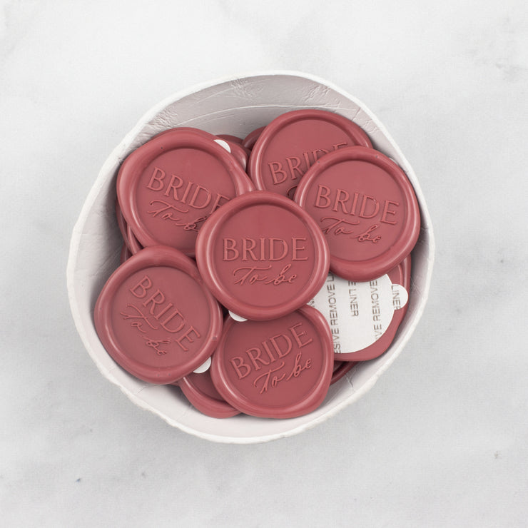Bride To Be Wax Seals - 25 Pack