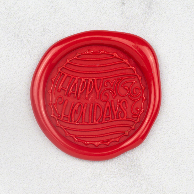 Happy Holidays Wax Seals - 25 Pack