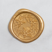 Poinsettia Wreath Wax Seals - 25 Pack