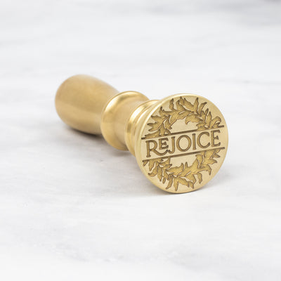 Rejoice Wax Stamp